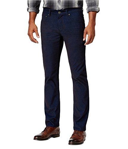 Straight Corduroy Leg Blues (Inc Mens Corduroy Marled Straight Leg Pants Blue 38/34)