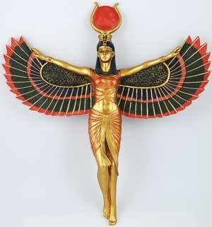 AzureGreen SI107 13 in. Open Winged Isis Wall Hanging (Isis Winged)