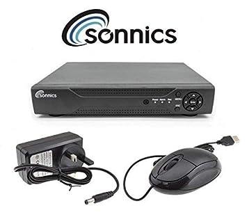 Sonnics 500GB 4 Channel CCTV DVR Recorder H.264 5in1 up to 1080P HD VGA HDMI BNC