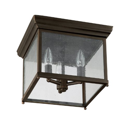- Capital Lighting 9546OB Traditional 3-Light Flush Mount, Old Bronze Finish with Seedy Glass