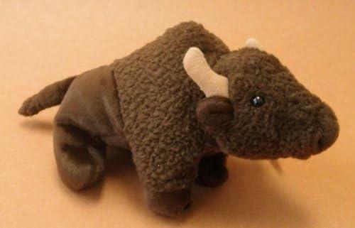 "TY Beanie Baby  ROAM brown Buffalo approx 7/"" long 1998 Plush Animal"