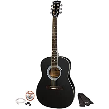 maestro by gibson acoustic guitar pack 41 inch natural musical instruments. Black Bedroom Furniture Sets. Home Design Ideas