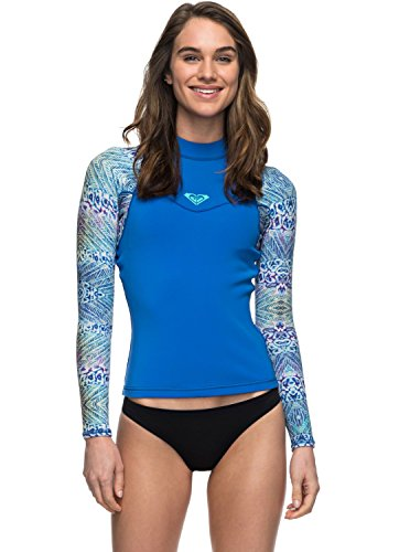 a5fb13d9f5c 1 * Diving vest. Roxy Womens 1Mm Syncro Series - Long Sleeve Wetsuit Top -  Women - 6 - Blue Sea Blue Ii 6