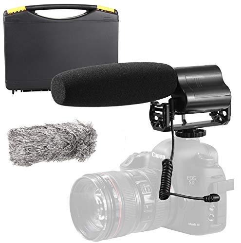 Sevenoak Shotgun Video Microphone Compatible with Nikon D850, D810, D800, D750, D610, D600, D500, D7500, D7200, D7100, D5600, D5500, D5300, D5200, D3500, D3400, D3300, D3200, D4, D5 DSLR Camera