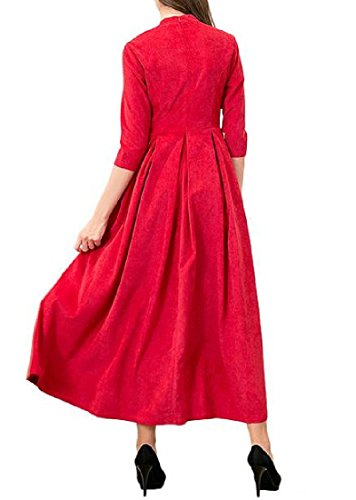 Coolred Sleeve Red Accept Waist Hem Big 3 Women Dress Mid 4 Syq0w7rS4c