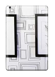 Flexible Tpu Back Case Cover For Ipad Mini/mini 2 - Black And White Artwork