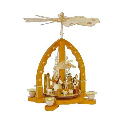 Nativity Scene Snowglobe (Richard Glaesser Nativity Scene Pyramid)