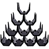 Premium Black Plastic Stackable Wine Rack - Pack of 10 Wine Racks
