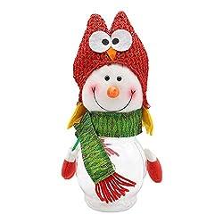 Mome Christmas Ornaments  1 PC Christmas Decoration Transparent Candy Jar Plastic Creative Ornaments Gift Box Tabletop Decoration, Santa Claus | Snowman | (B)