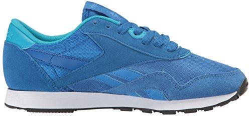 Reebok Femmes Cl Nylon Mh Mode Sneaker Echo Bleu / Bleu Impressionnant / Bleu Sarcelle / Indigo / Blanc / Buck