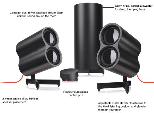 Logitech Speaker System Z553 with 40 Watts RMS Power and 3 Device Inputs by Logitech (Image #4)