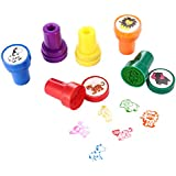 LUCKYBIRD Animals Stamps Kids, Animal Self Ink Stamps/ Plastic Fun Stamps Kids, 6 Count