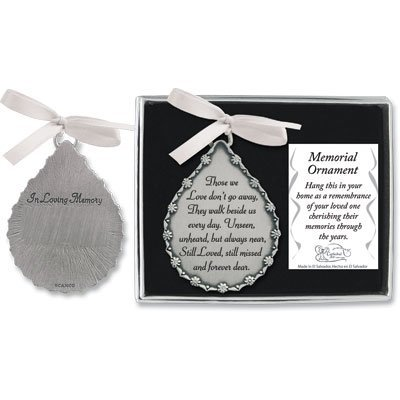 Cathedral Art CO521 Tear-Shaped Memorial Ornament, 2-3/4-Inc