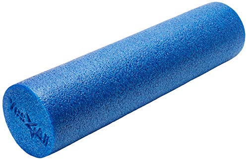 Yes4All USA Foam Roller/High Density Foam Roller - Best for Back, IT Bands and Hamstrings - Exercise Foam Roller 24 inch (Blue) - Made in USA