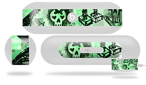 Scene Kid Sketches Green Decal Style Skin - fits Beats Pill Plus (BEATS PILL NOT INCLUDED) by WraptorSkinz