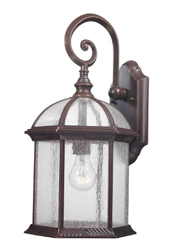 Design Trends 18004-342 Traditional Old Outdoor Wall Lantern with Clear Seedy Glass, Bronze, 1-Pack Review