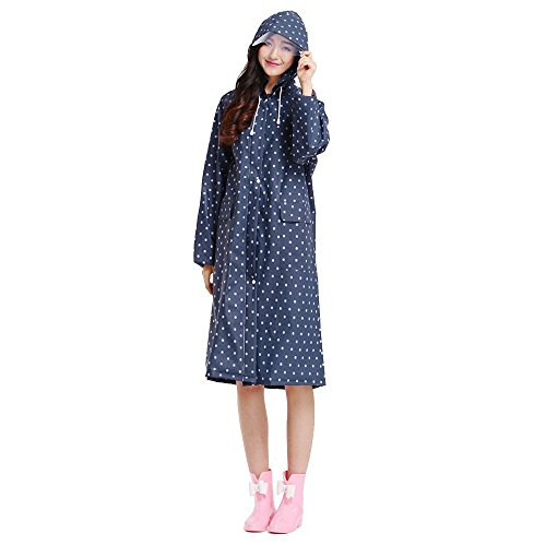Ezyoutdoor Outerwear Raincoat with Zipper Folding Slicker Poncho Bicycle Ridding Cape Women Men Cycling Bike Waterproof Rain Cape for Outside Camping Hiking Walking Travel(Blue Wave - Men Sunglasses For Flipkart