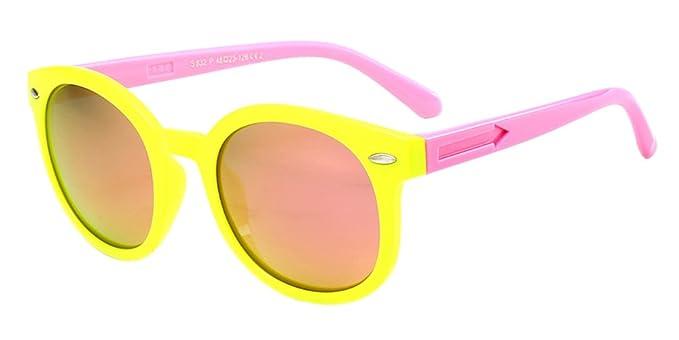 Fuyingda Unisexo Niños Moda Gafas de Sol para Niños & Niñas Flexible Rubber Polarizadas Gafas,