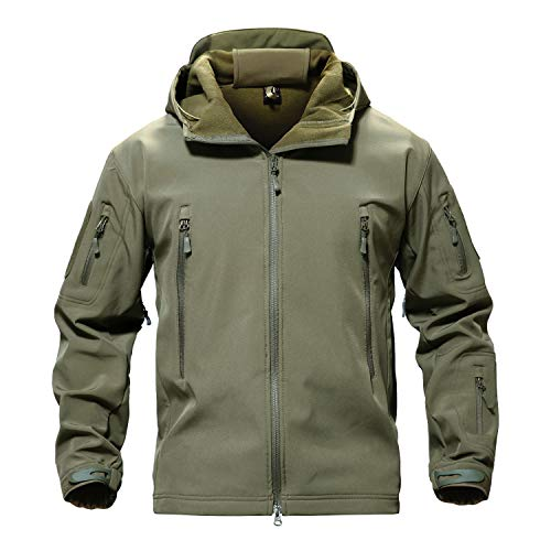 Where to find swiss tech jacket mens military green?