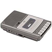 RCA RP3503 Cassette Voice Recorder with Slim Shoebox Design and 3 Digit Tape Counter (Non-Retail Packaging)