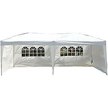 palm springs 10 x 20 pop up white canopy w 6 side walls ez to set up sports outdoors. Black Bedroom Furniture Sets. Home Design Ideas
