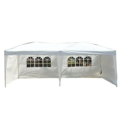 y Pop up Canopy Party Tent, 10 X 20-feet, W/4 Removable Sidewalls W/wheel Bag (Party Tent Top)