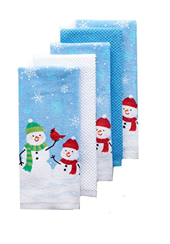 The Big One Christmas Snowman Kitchen Towel Set 5 Pack