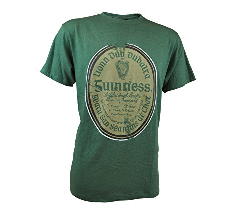 Guinness Green Gaelic Label Tee (X-Large) - Guinness Irish Label