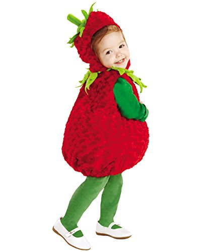 Underwraps Baby's Strawberry Belly, Red/Green, - Halloween For Costumes Food