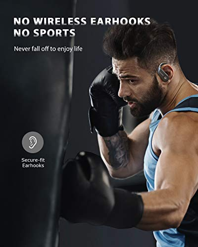 Sports Wireless Earbuds, VANKYO S05A Bluetooth 5.0 Headphones, CVC 8.0 Noise Cancellation, True Wireless Earphones Deep Bass in-Ear Touch Control IPX7 Waterproof 37H Playtime for Running Gym Workout