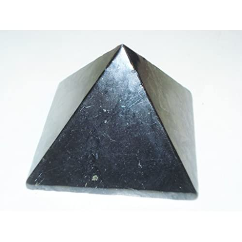 "(#2) 1pc 51mm Pyramid Shungite ""A-Grade"" Rare Large 100% Natural From Shunga Russia Polished Healing Crystal Gemstone Protection Stone supplier"