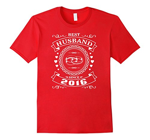 Mens Best Husband Since 1 Year Anniversary Gift For Him Shirt Small Red