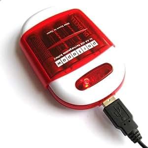 PortaPow Charger - Cargador de batería USB con Power Bank, rojo