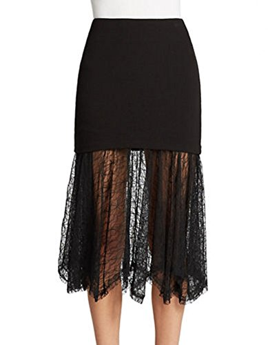 Free-People-Illusion-Skirt-Small-Black