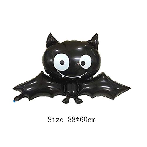Lannmart Halloween Pumpkin Ghost Balloons Halloween Decorations Spider Foil Balloons Inflatable Toys Bat Globos Halloween Party Supplies
