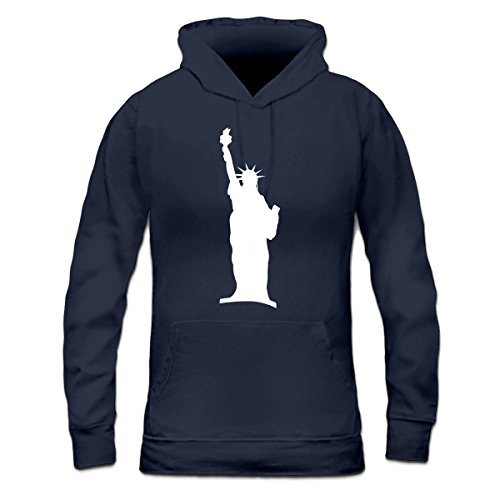 Sudadera con capucha de mujer Statue of Liberty New York by Shirtcity Azul marino