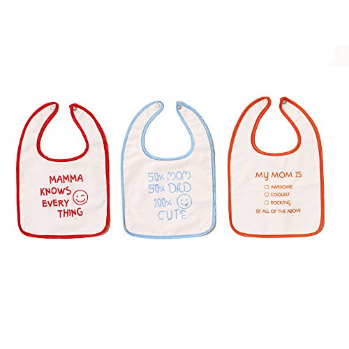 Baby Bibs for Girls and Boys, Set of 3 Baby Drool Bibs, Super Soft, Waterproof, Newborn Baby Shower Gift, Toddler Girl Boy Bibs for Drooling, Teething and Feeding by Meukebaby … (Style2)