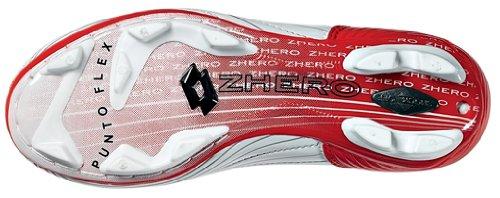 Lotto Zhero Evolution Due FG-3F Junior Chaussures à crampons, Garçon, Taille 36 (EU), Blanc/Rouge feu