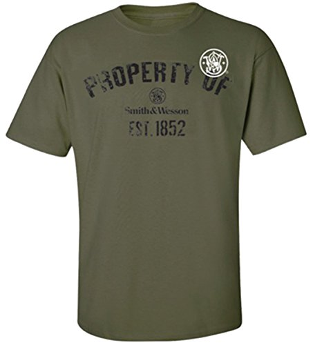 Smith & Wesson Men's Property Of T-Shirt (Military Green - M)
