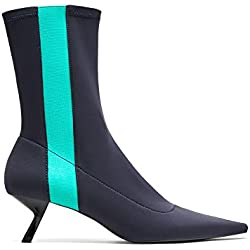Zara Women Pointed pin heel ankle boots with contrasting detail 7111/201 (42 EU | 11 US | 9 UK)