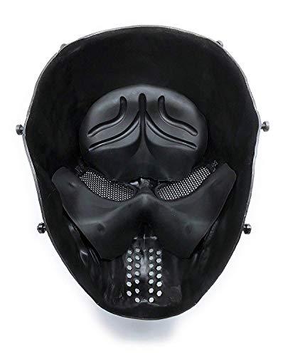 Masque de protection CS Masque de squelette crâne complet Airsoft Paintball de Airsoft Noir 4