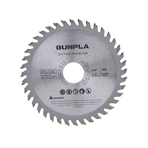 Gunpla 3 Pieces 4-1/2-inch 40 Tooth Alloy Steel TCT General Purpose Hard & Soft Wood Cutting Saw Blade with 7/8-inch Arbor by Gunpla (Image #1)
