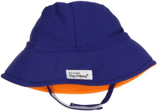 Flap Happy Unisex Baby UPF 50+ Fun In The Sun Hat with Chin Strap, Playa, Medium ()