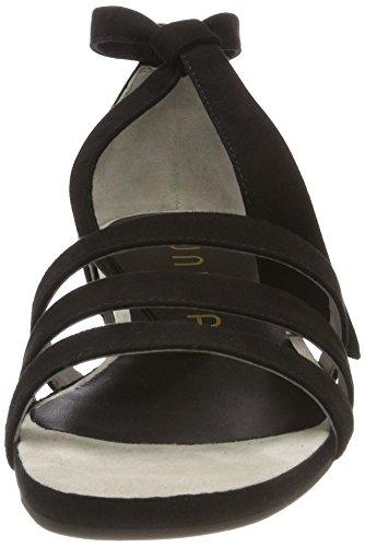 Ouvert Unisa Sandales black Bout Alardo Noir Femme ks 4IIxF1rwq
