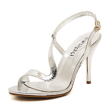 LvYuan Mujer-Tacón Stiletto-Otro Zapatos del club-Sandalias-Boda Vestido Fiesta y Noche-Semicuero-Plata Oro Gold