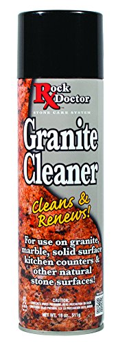 Rock Doctor Granite Cleaner - Cleans& Renews Surfaces - (18 oz) Surface Cleaner Spray, Granite/Marble Countertop Cleaner, Cleaning Spray for Vanity, Table Top, Kitchen Counters, Stone Surfaces