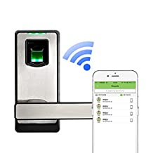 2016 New Arrival! ZKTeco Biometric Door Lock- Keyless Home Entry with Your Smartphone & Fingerprint