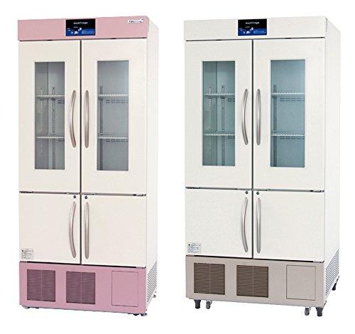スリム型薬用冷凍冷蔵庫 FMS-F154GS(62/174L)  ピンク(上部下部パネル)(23-3210-01-03)【福島工業】[1台単位]   B07BD33YR3