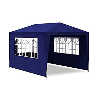 vidaXL Outdoor Party Tent 10'x13' Blue Canopy Gazebo Pavilion Events 4 Walls: Sports & Outdoors