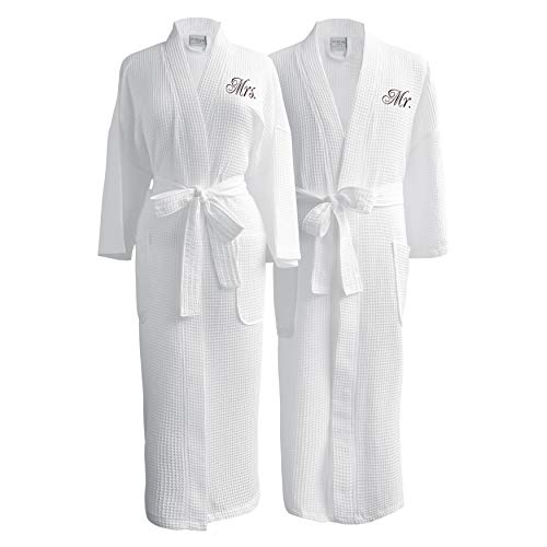 Luxor Spa - Luxor Linens Conrad Egyptian Cotton Mr. & Mrs. Set (Gift Packaging) White